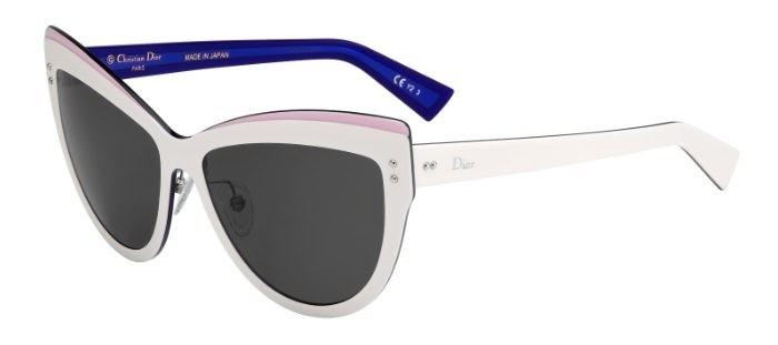 Weiße Dior Sonnenbrille